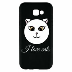 Чохол для Samsung A7 2017 I love cats art