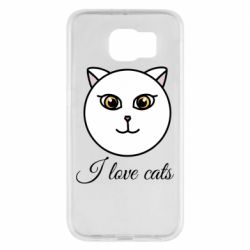 Чохол для Samsung S6 I love cats art