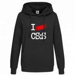 Женская толстовка I love CS Source - FatLine