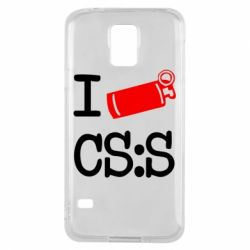 Чехол для Samsung S5 I love CS Source