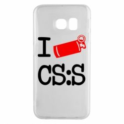 Чехол для Samsung S6 EDGE I love CS Source