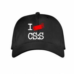 Детская кепка I love CS Source - FatLine