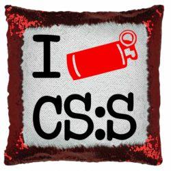 Подушка-хамелеон I love CS Source