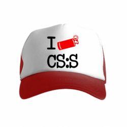 Детская кепка-тракер I love CS Source