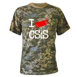 Камуфляжная футболка I love CS Source - FatLine
