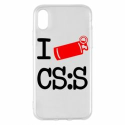 Чехол для iPhone X/Xs I love CS Source