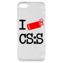 Чехол для iPhone5/5S/SE I love CS Source