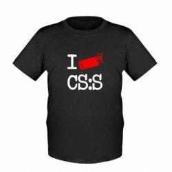 Детская футболка I love CS Source - FatLine