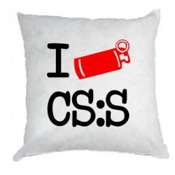 Подушка I love CS Source - FatLine