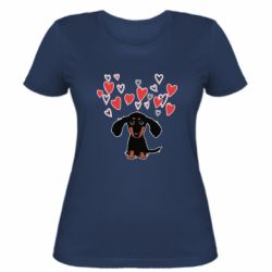 Жіноча футболка I love dachshund