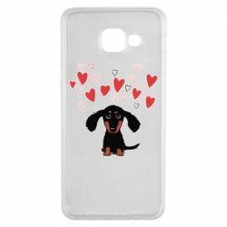 Чохол для Samsung A3 2016 I love dachshund