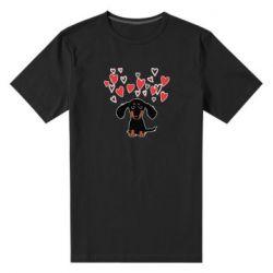 Чоловіча стрейчева футболка I love dachshund