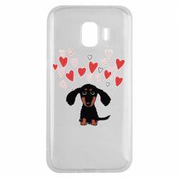 Чохол для Samsung J2 2018 I love dachshund