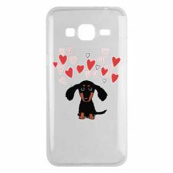 Чохол для Samsung J3 2016 I love dachshund