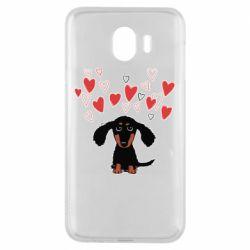 Чохол для Samsung J4 I love dachshund