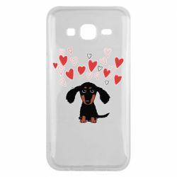 Чохол для Samsung J5 2015 I love dachshund