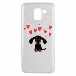 Чохол для Samsung J6 I love dachshund
