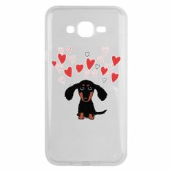 Чохол для Samsung J7 2015 I love dachshund