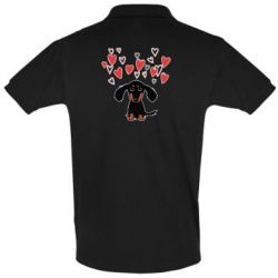 Футболка Поло I love dachshund