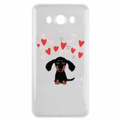 Чохол для Samsung J7 2016 I love dachshund