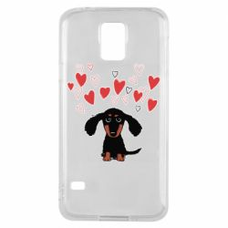 Чохол для Samsung S5 I love dachshund