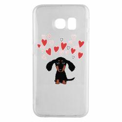 Чохол для Samsung S6 EDGE I love dachshund