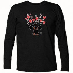 Футболка з довгим рукавом I love dachshund