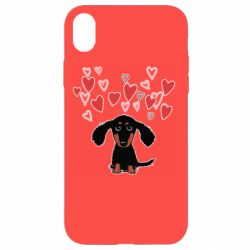 Чохол для iPhone XR I love dachshund