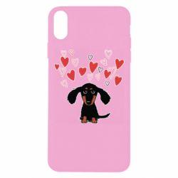 Чохол для iPhone Xs Max I love dachshund