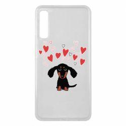 Чохол для Samsung A7 2018 I love dachshund