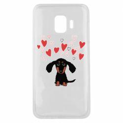 Чохол для Samsung J2 Core I love dachshund