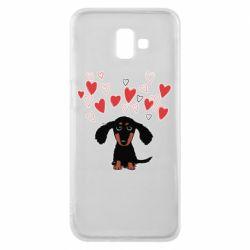 Чохол для Samsung J6 Plus 2018 I love dachshund