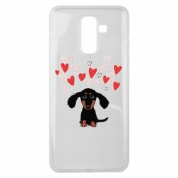 Чохол для Samsung J8 2018 I love dachshund