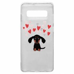 Чохол для Samsung S10+ I love dachshund
