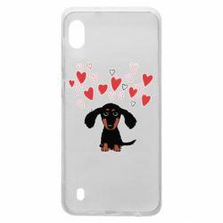 Чохол для Samsung A10 I love dachshund
