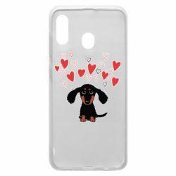 Чохол для Samsung A20 I love dachshund