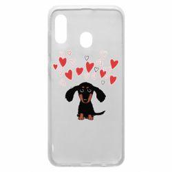 Чохол для Samsung A30 I love dachshund