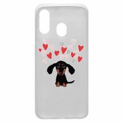 Чохол для Samsung A40 I love dachshund