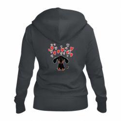 Жіноча толстовка на блискавці I love dachshund