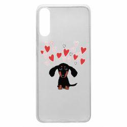 Чохол для Samsung A70 I love dachshund