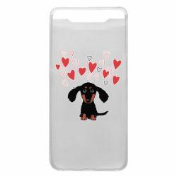 Чохол для Samsung A80 I love dachshund