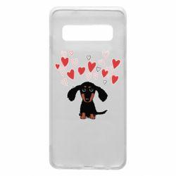 Чохол для Samsung S10 I love dachshund