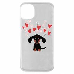 Чохол для iPhone 11 Pro I love dachshund