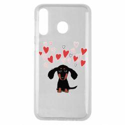 Чохол для Samsung M30 I love dachshund