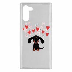 Чохол для Samsung Note 10 I love dachshund