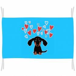 Прапор I love dachshund