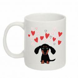 Кружка 320ml I love dachshund