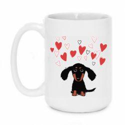 Кружка 420ml I love dachshund