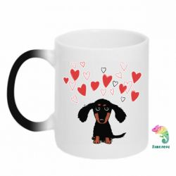 Кружка-хамелеон I love dachshund