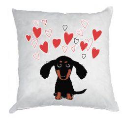 Подушка I love dachshund